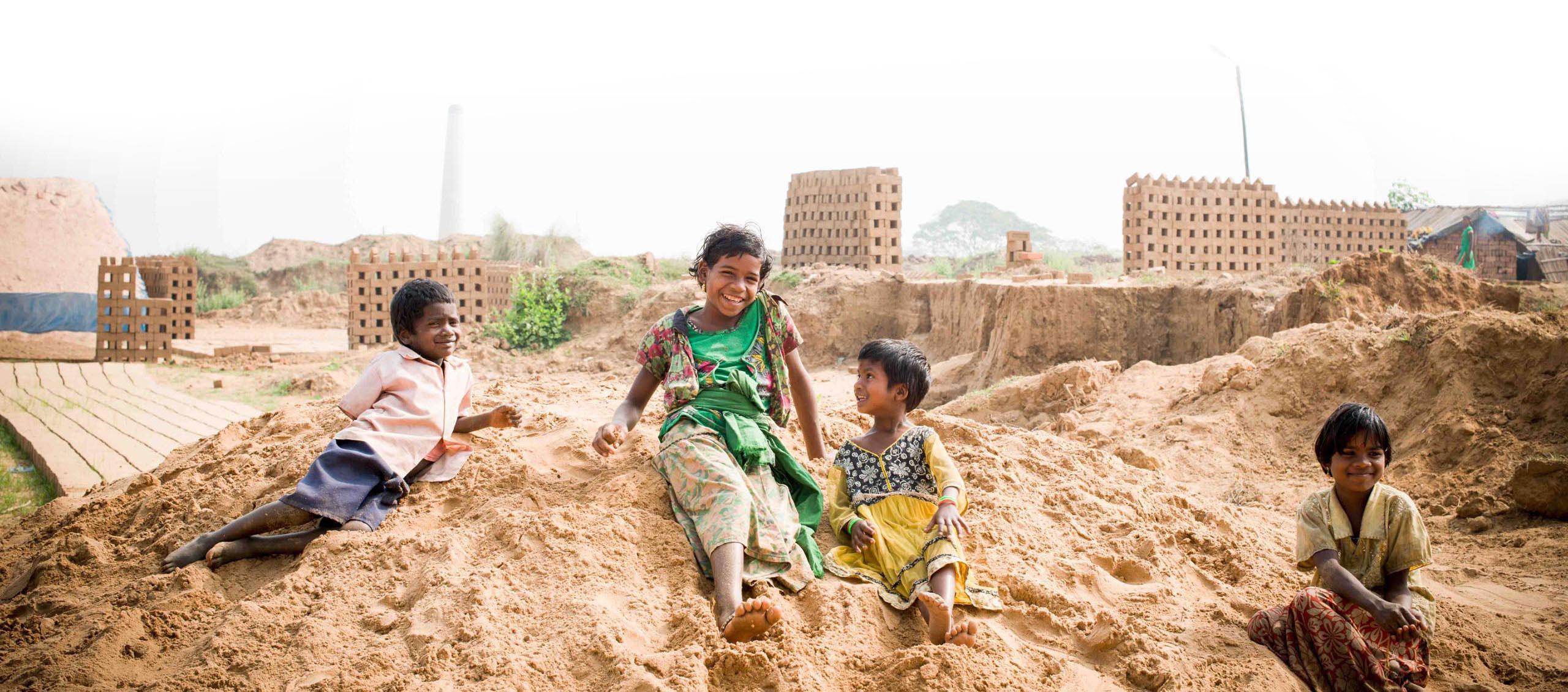 Enfants indiens qui sourient